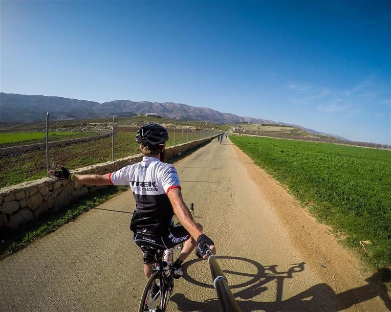 I ride, to add life to my days! 🚴🏻☀️ showyourstripes  cycling ... (Karaoun)