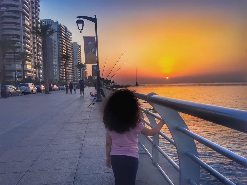 Fishing some hope 🎣🙏🌅🎣🙏___________________________________... (Beirut, Lebanon)