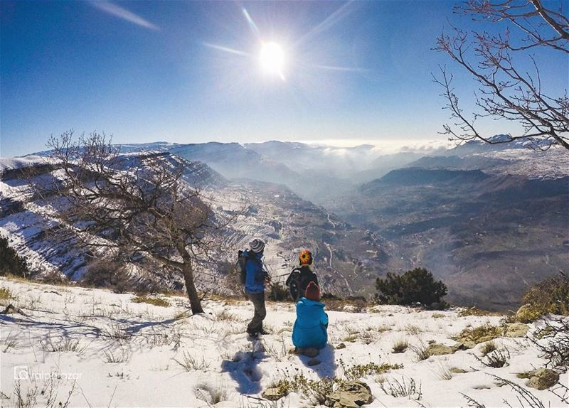🏔Overlook🏔  snow  hiking  mountains  lebanon  winter ..... ... (El Aâqoûra, Mont-Liban, Lebanon)