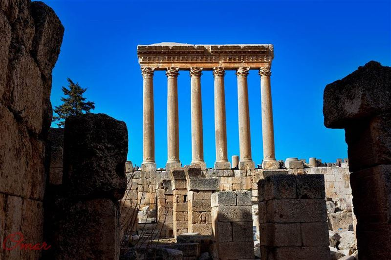 The remains of Jupiter's temple  baalbek  baalbecktemples  heliopolis ... (Baalbek, Lebanon)