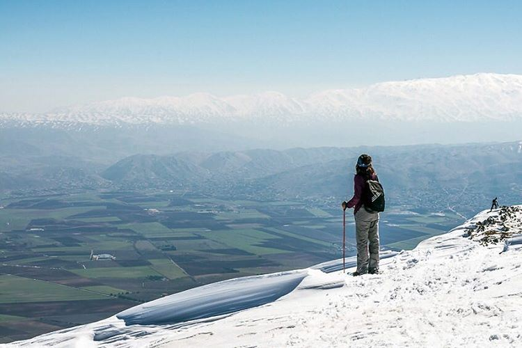 Enjoying the view lebanon  barouk  bekaa  valley  chouf  mountains  snow ... (Shouf Biosphere Reserve)