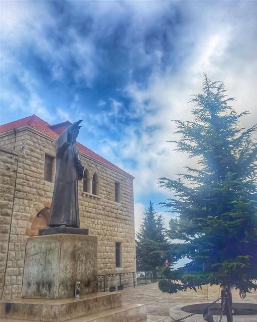 When you first open your eyes 🙏Say your morning prayer and let your... (Saint Charbel Lebanon)