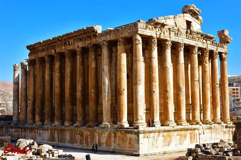 Temple of Bacchus one of the best preserved and grandest Roman temple... (Baalbek, Lebanon)