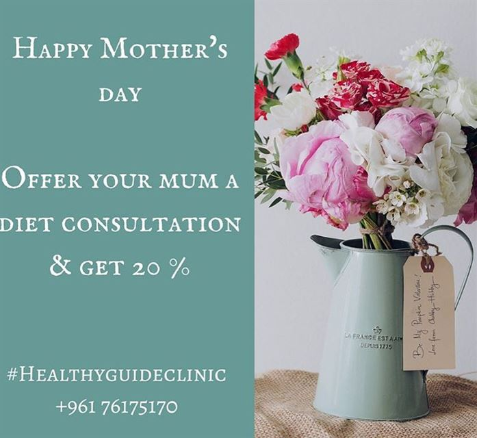 Offer you mum a Diet Consultation on her special day 💓 Get 20 % off ! ....