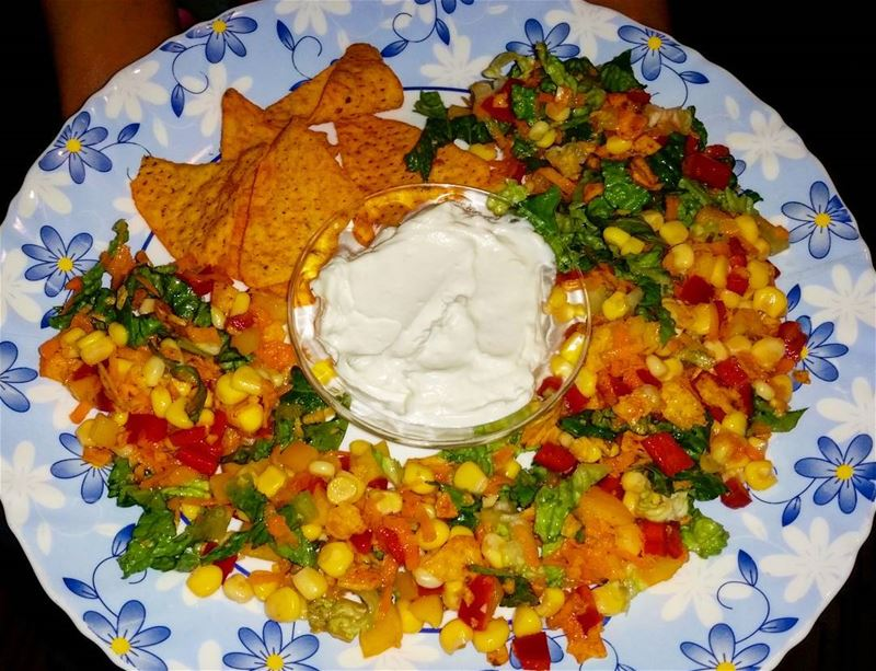 This is so yummy! salad doritos chips doritoschips doritossalad yummy...