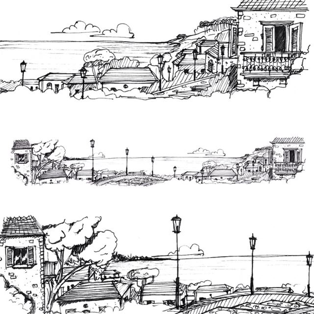 - Lebanese landscape -  sketch  sketching  sketchbook  sketches ...