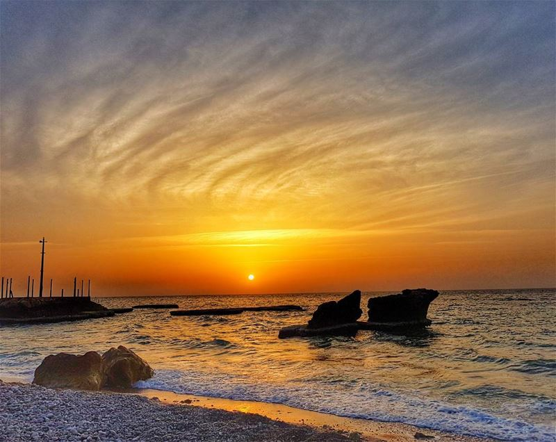 Mesmerizing sunset  lebanon🇱🇧  lebanoninapicture  batroun end of ...