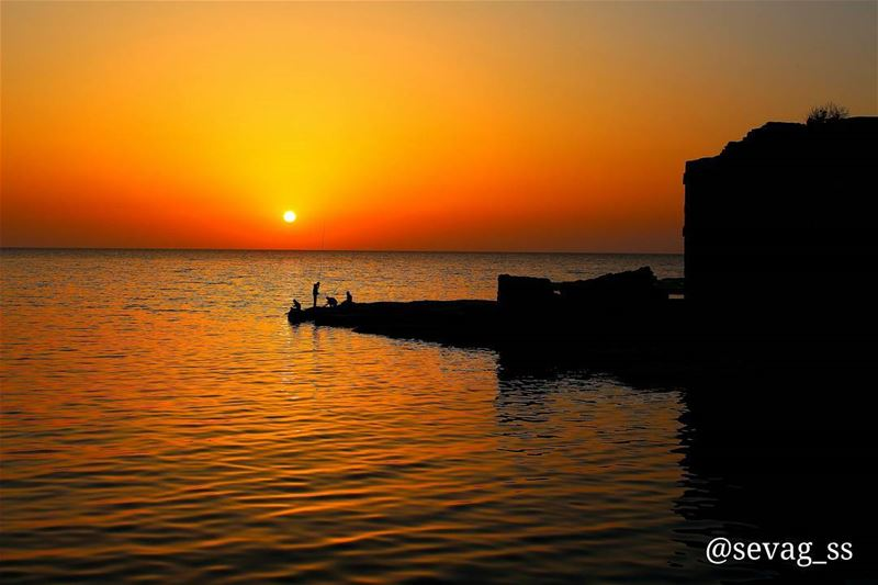 I never met a sunset i did not like. sunset  beach  beautiful  clouds ... (Byblos - Jbeil)