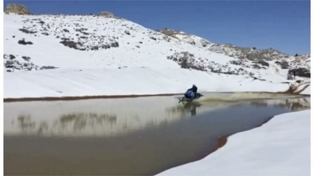 Wissam Haddad isn't worried for snow to melt !Jet skiing is an option as...
