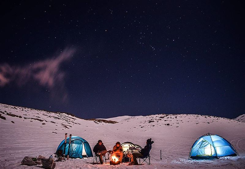 saturday saturdaynight camping camp hike hiking stars startrails snow... (3yun Simen)
