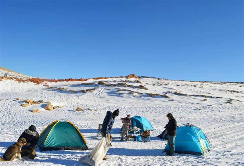 Morning duty❄🗻 sunday morning duty camping camp hike hiking adventure... (Aayoun El Siman)