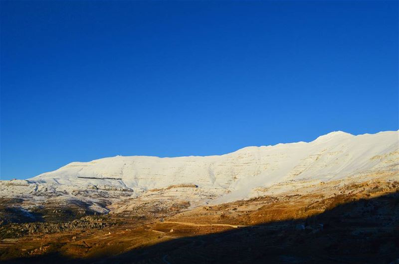 sanine saturday winter snow white blue mountain sunshine landscape... (Mount Sannine)