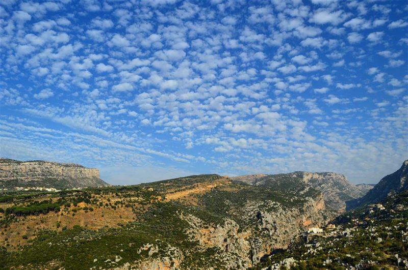 autumn roadtrip destination travel landscape mountains cliff clouds river... (Tannourine El Tahta)