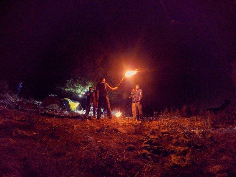 autumn saturday night camp camping hike hiking bonefire friends adventure...