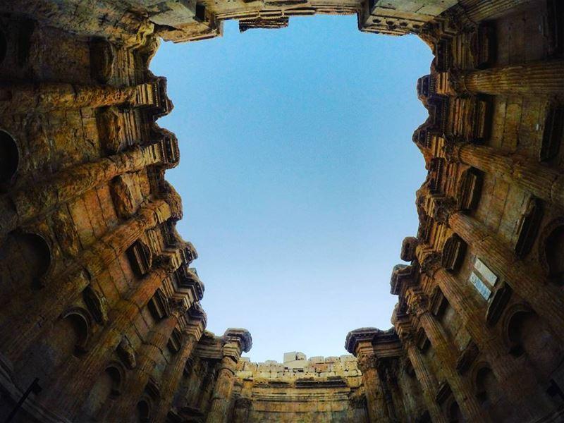 sunday trip baalbak bekaa temple ancientgods gods god roman castle world... (Baalbek Temple)