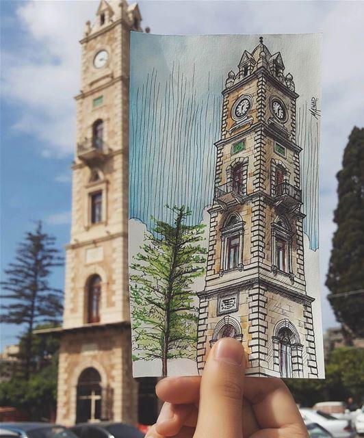 Torre do Relógio Otomano ilustrada por @mahmud_a Este é um dos mais... (Tripoli Al Tal)