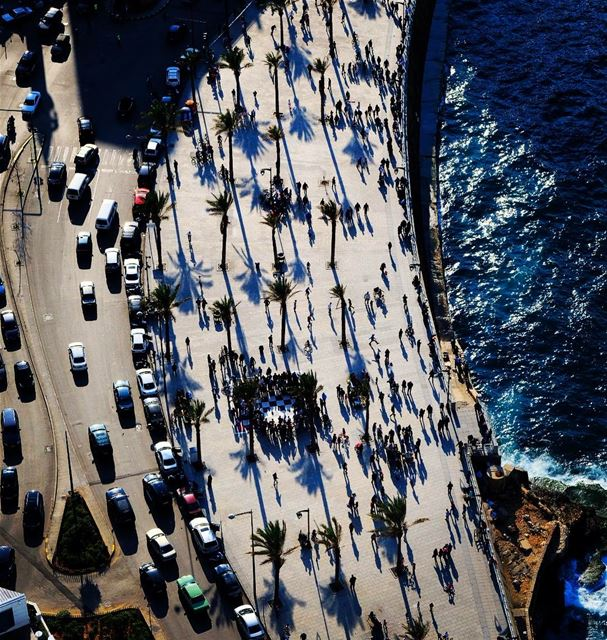 Come for a walk on Beirut's Corniche travel traveling street ... (Corniche Manara Beirut)
