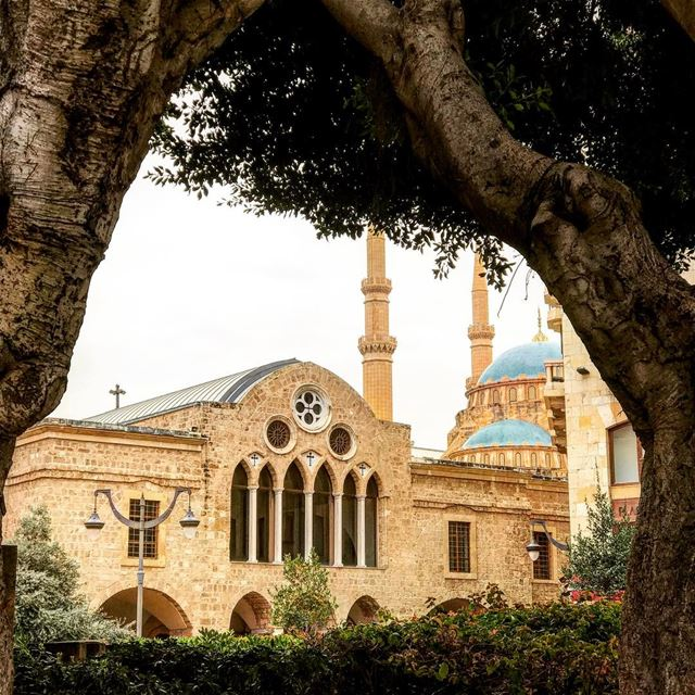 downtown beirut beautiful special view mosque church lebanon peace 🇱🇧