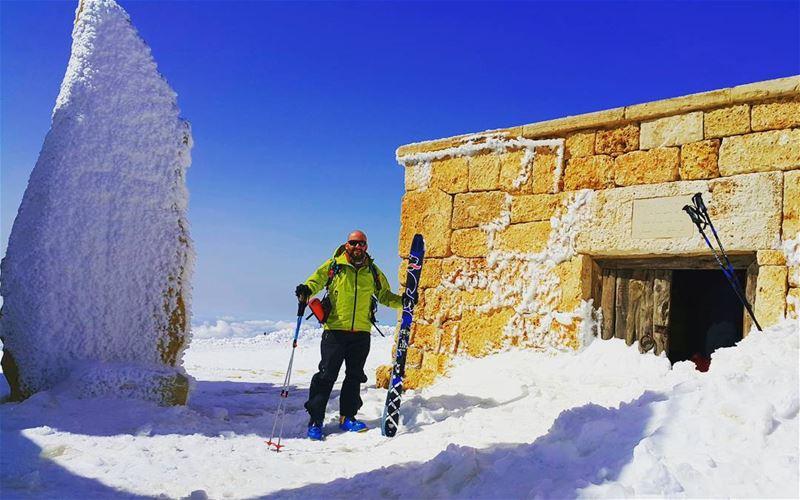 Happy Saint Joseph day from top of Mzaar summit...on my left side Saint... (Mzaar 2400m)