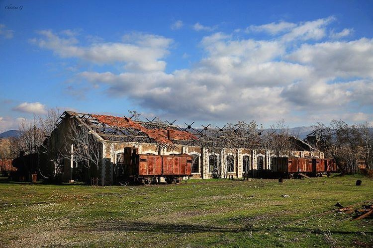 The abandoned train station of Riyak was the first railway to be built in... (Riyaq, Béqaa, Lebanon)