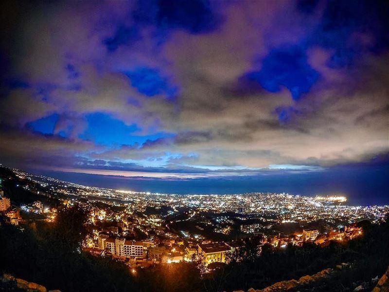 An amazing view from Broumanaتصبحون على خير من برماناPhoto taken by @elie (Brummana)
