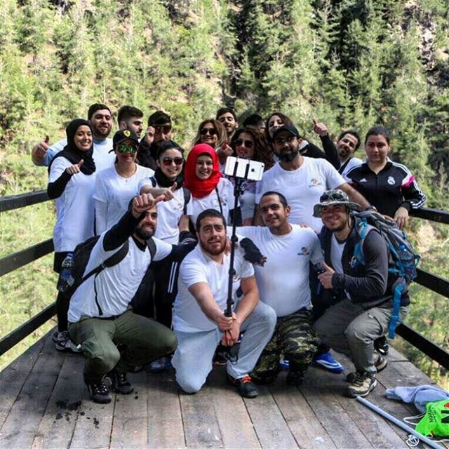 keep walking team 💪 lebanon lebanon_hdr extremsport hikingadventures ... (Chouwen Lake)