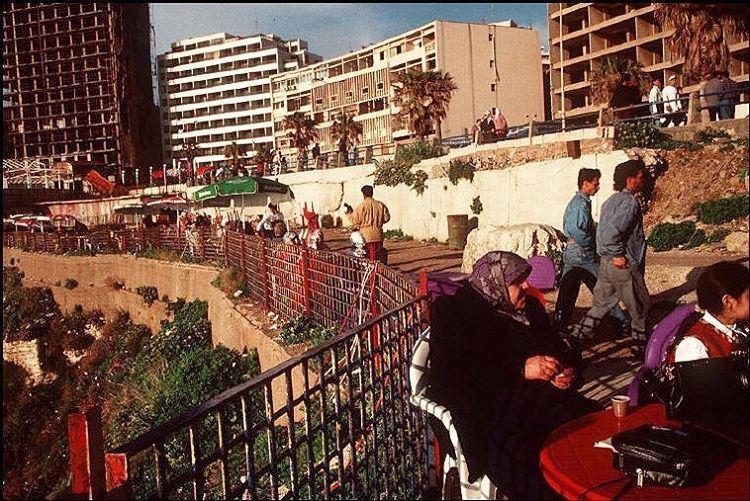 Beirut Raouche 1996 , OldBeirutlebanon ©