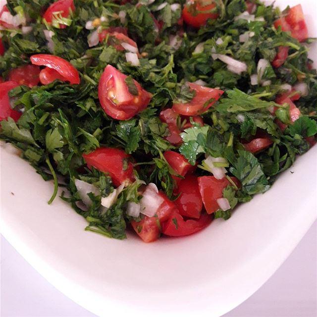 Tabbouleh; the wonderful Levantine vegetarian dish 🐋🐳🐟🍀☘ tabbouleh ...