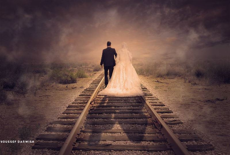 mabrouk wedding photography GraphicDesigner train sunset photoshop ...