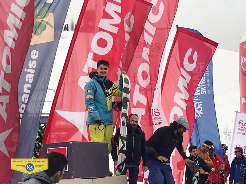 ROS student Chris Harran coming in Third place in Mzaar Winter Festival... (Mzaar Ski Resort)