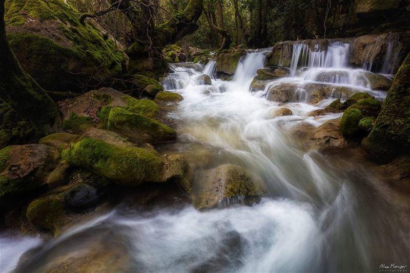 river waterfall rock shouf reserve lebanon canon canonme 10452 ... (El-Mukhtarah, Mont-Liban, Lebanon)