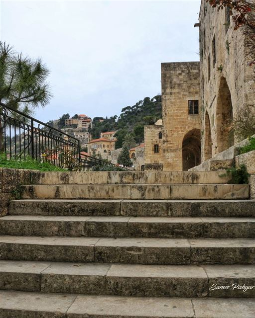 stairs to history...Deir LQamar today... Lebanese Lebanon Beirut ...