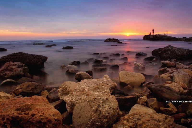 sunset lebanon tyre nikond7100 nikon d7100 sea livelovetyre sour ... (Sur, Al Janub, Lebanon)