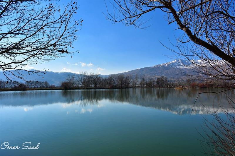 Beauty of nature lake landscape landscapephotography beautiful ... (Taanayel Lake)