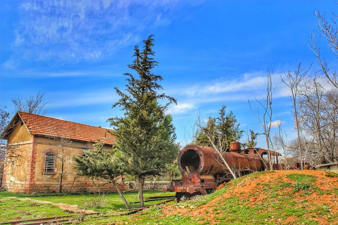 The first railway to be built in Lebanon in 1891, the Rayak train station... (Rayak, Béqaa, Lebanon)
