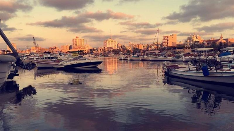 The sky broke like an egg into sunset and water caught fire 🌅. ~Pamela... (Tyre, Lebanon)