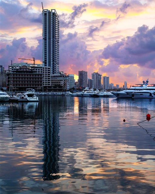 Because endings come often beautiful @livelovebeirut (Zaitunay Bay)