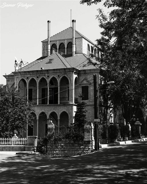 In B&W.. Bekfaya Lebanon ... house mansion livelovebeirut ...