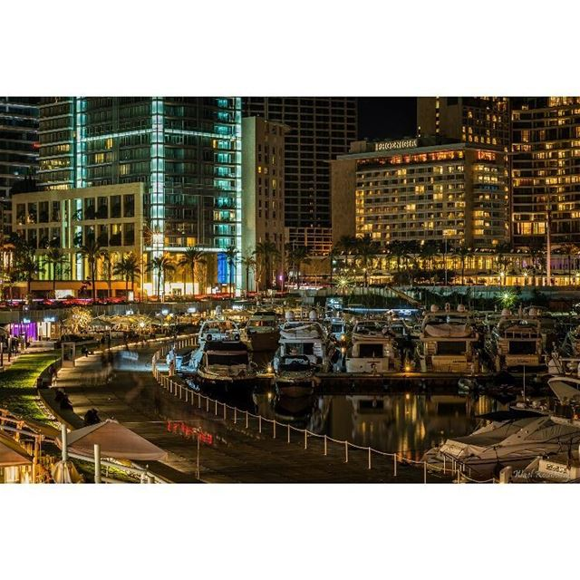 beirut lebanon night nightshot beirutlife city lights cityscape ... (Saint Georges)