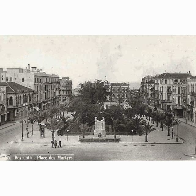 Beyrouth Martyrs Square In 1921 .
