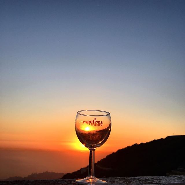 Sunset and Wine 🍷 🌅 (El Kfour, Mont-Liban, Lebanon)