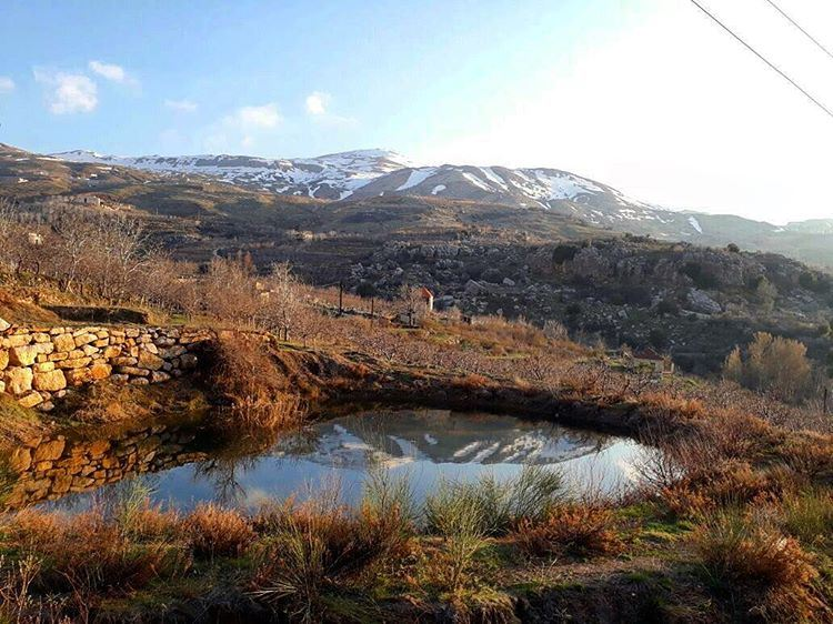 lebanon nature landscape lake mountain reflection hiking trekking ...