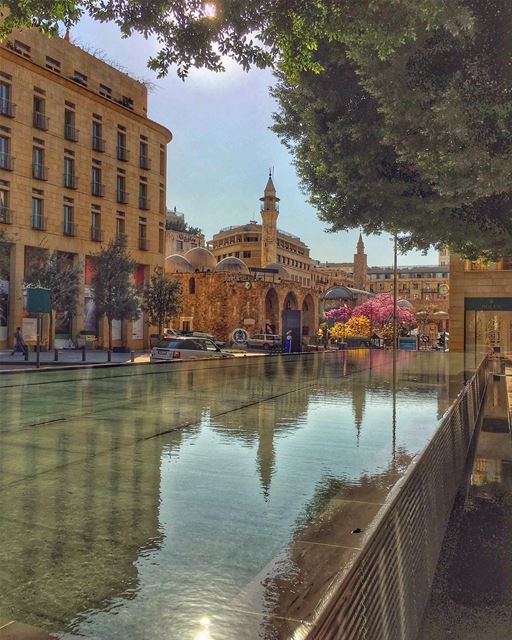 Warm reflections of a Cold World...,.. mosque architecture downtown... (Downtown Beirut)