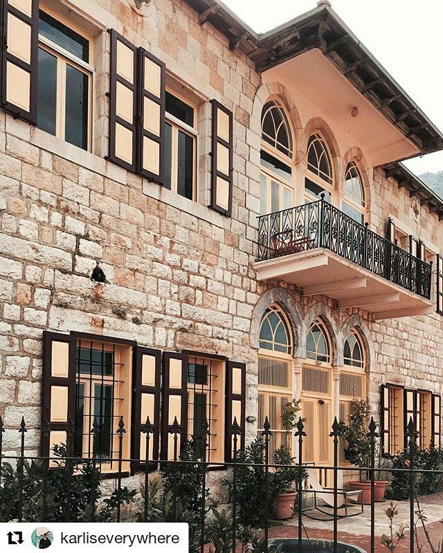 Repost @karliseverywhere・・・House with the golden shutters🏠✨ Beirut... (Beit Douma)