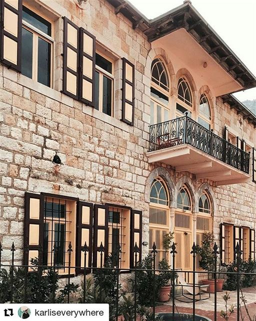 Repost @karliseverywhere・・・House with the golden shutters🏠✨ Beirut... (Beit Douma)