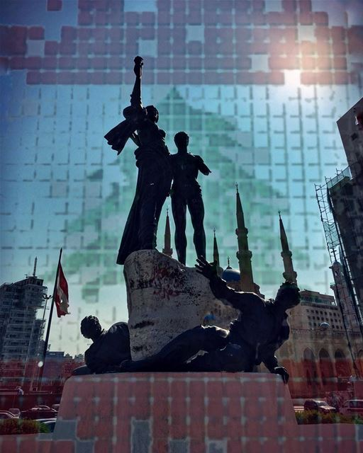 Superficial patriotism ,phantom liberties, political martyrdom, we all... (Martyrs' Square, Beirut)