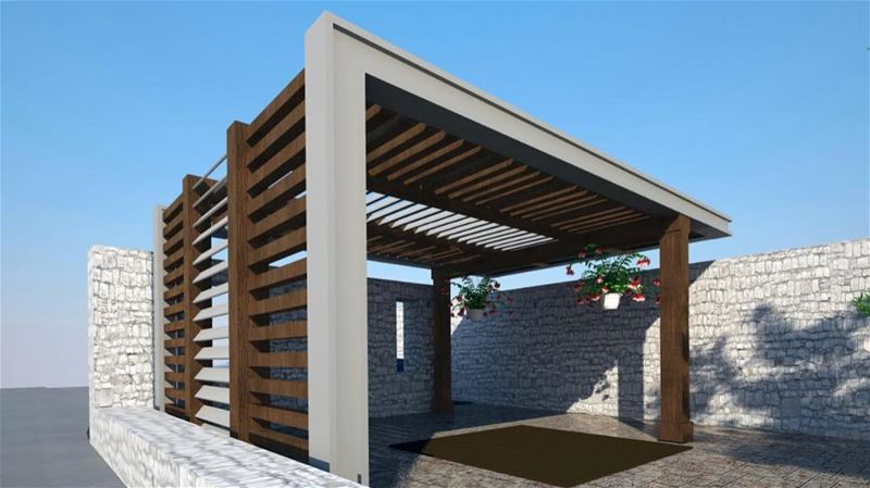 In the Making.. PergolaKitsLebanon. Pergola Wood Steel Design ...