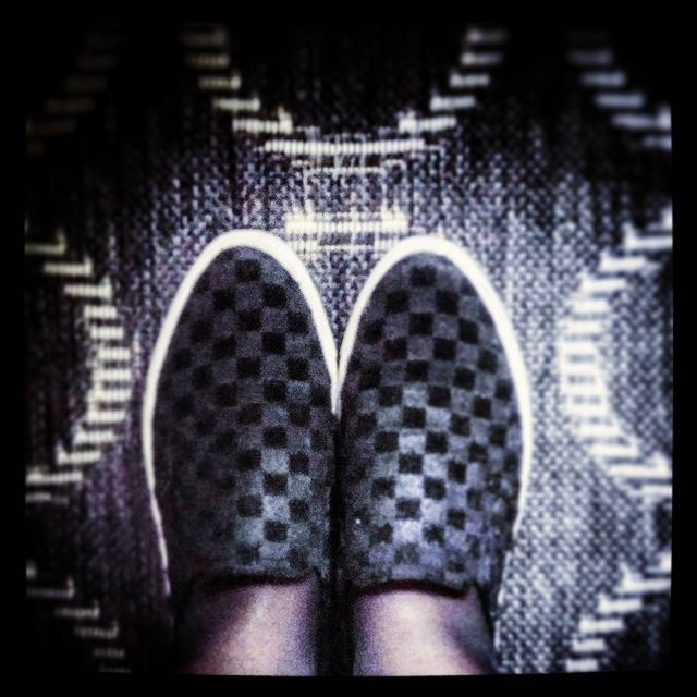 ▫▪◽◾◻◼🔲 squares  checkered  black  white  slipons  shoes  feet  b&w ...