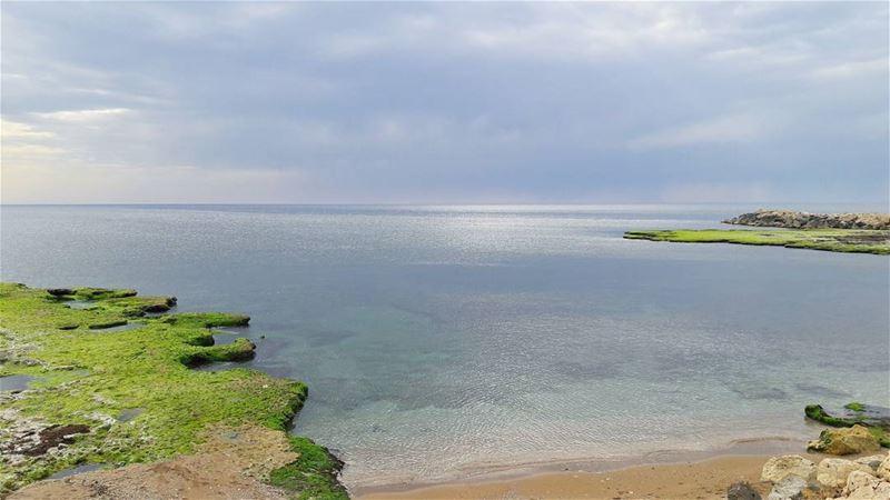 Keep calm, just like the sea today 🌊🌊🌊 Dreamy Spring طرابلس لبنان ... (Mina Beach)