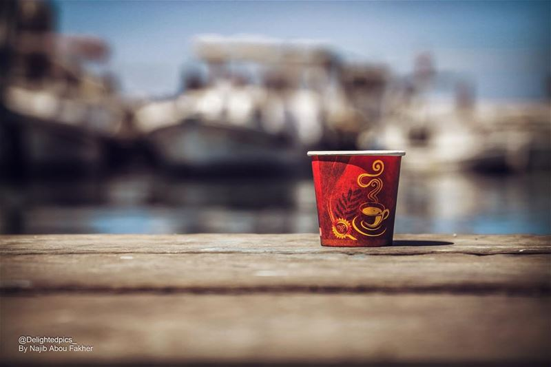 Coffee on the deck!! delightedpics_ photooftheday picoftheday ... (El-Mina, Tripoli)